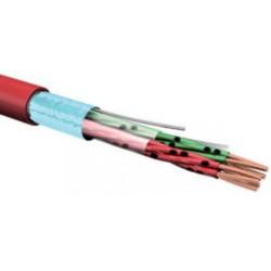 Kabel k EPS J-H(ST)H 4x2x0,8 bd - Bezhalogenový, plamen nešířící kabel, červený plášť balení 200m