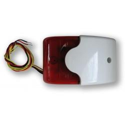 SA 913TF - plochá piezosiréna, 110dB, bílý plast + blikač a TAMPER