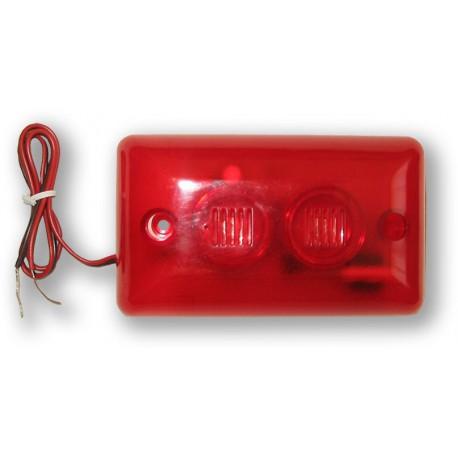 ES-35L - piezosiréna 115dB se stroboskopem - červená