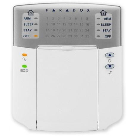 PARADOX - K32+ (1408-014) - LED klávesnice, 32 zón