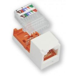 PANDUIT MCOM-CJ588AWY - (1012-020) - bílá - samořezný CAT.5e - Mini-Com (keystone)