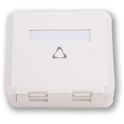 LAN-TEC WO-012 BASIC-2P - povrchová prázdná pro KJ s krytkou, 2 po