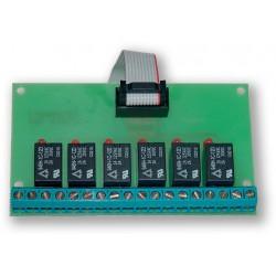 VAR-TEC - GSM expander VT-02 - OUTPUTS - 6xRELÉ VÝSTUP