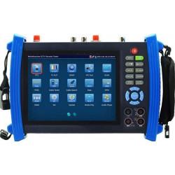 AG-IT1008+MFT - CCTV tester pro IP kamery, TURBO HD kamery, HDMI I/O, měření útlumu, POE