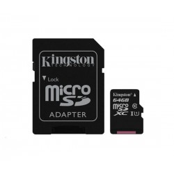 MICROSDXC KARTA 64GB - KINGSTON UHS-I, CLASS 10 + SD ADAPTER