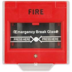 VAR-TEC CP-02 - (0701-090) - červená - tísňový hlásič se sklíčkem pro rozbití