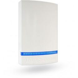 JABLOTRON JA-1X1A-C-WH-B Plastový bílý kryt sirény Jablotron, modrý blikač
