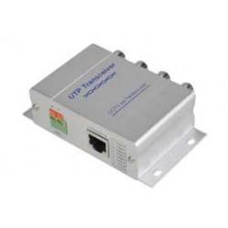 VÝPRODEJ VS-T204 - 4 kanálový PASIVNÍ vysílač /přijímač po UTP