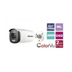HIKVISION DS-2CE12DFT-F/36 - ColorVu 2MPix venkovní kamera TurboHD, 4v1, přísvit 40m, obj.3,6mm