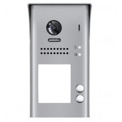 DPC-D250-2 - Dveřní stanice, pro D2, 2x tlacitko, CCD 105st, 2-drát, IP 54, povrch. montáž, 1 zámek