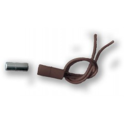 MINI-15 - hnědý, závrtný, miniaturní magnetický kontakt, 2vodič