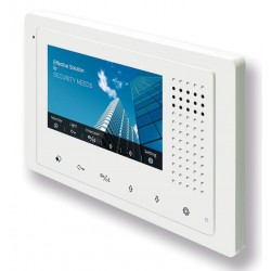 "XtendLan DPM-D248 - Bytový monitor XtendLan DPM-D248,4,3"" barevný TFT, dotyková tlačítka, tenký profil, bílý"