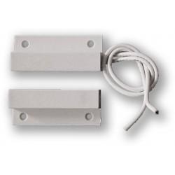 FM-102 - (0701-046) - bílý, povrchový, samolepící magnetický kontakt, 2vodič