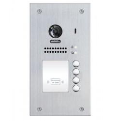 XtendLan DPC-D250-4F-ID - Dveřní stanice, pro D2, 4x zvonek, RFID čtečka, CCD 170st, 2drát, IP54, zapušt. montáž, 1 zámek