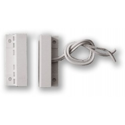 VAR-TEC FM-106 - bílý, povrchový, samolepící magnetický kontakt, 2vodič (0701-048)
