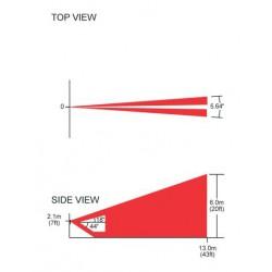 PARADOX CU-1 - vyměnitelná čočka s charakteristikou vertikální záclony dosah 13 m, vějíř 5,6°