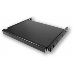 SH.P360.B0K - polička pro klávesnici, 1U, 360 mm, boční úchyt
