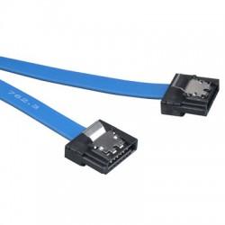 30AWG datový k HDD SATA 3.0. 1xHDD, 0.14m, západky, modrý