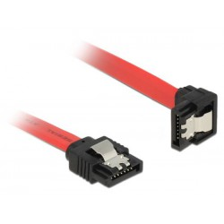 30AWG datový k HDD SATA 3.0. 1xHDD, 0.2m, západky, červený