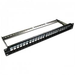XtendLan PP19-24NS -  Patch panel CAT6A, 24 port, rack 19, neosazený