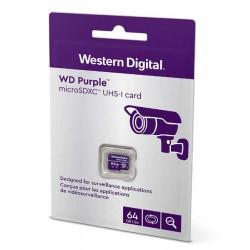WDD064G1P0A (0109-266) - paměťová karta MicroSDXC 64GB, WD Purple