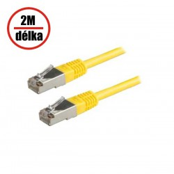 Patch kabel XtendLan Cat 5e FTP 2m žlutý-PK_5FTP020 yellow