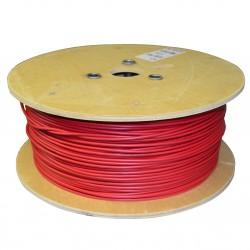 Kabel J-Y(st)Y 1x2x0.8 - červený požární kabel, balení 500m