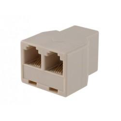 SOLID Telefonní rozdvojka RJ11-RJ11 Z/2x Z béžová