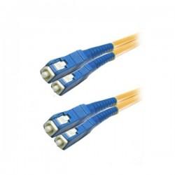 XtendLan FOP-SCSC-D-1-9 - Patch kabel, optický, SC-SC, PC, 9/125, duplex, 1m, LS0H, ZWP, G.652d