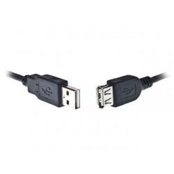 YANL USB 2.0 prodlužovací kabel A-A černý, 50 cm