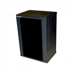 "XtendLan WS-12U-64-BLACK-P - (NETXTE7129) - Rozvaděč, RACK 19"", na stěnu, jednodílný, výška 12U, 600x450, dveře prosklené, černý"