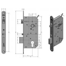 SAM EL 9050 - elektromechanický samozamykací zámek (1604-009)