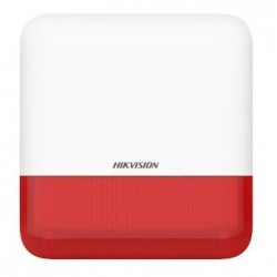 Hikvision DS-PS1-E-WE (červená) - AX PRO Bezdrátová venkovní siréna, červená