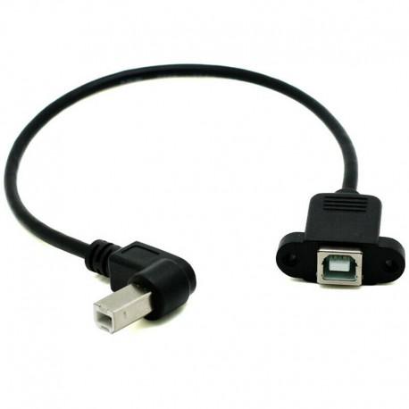 Prodlužovací kabel USB 2.0 typu B se zahnutým konektorem
