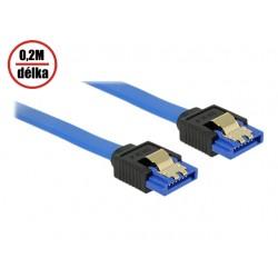 30AWG datový k HDD SATA 3.0. 1xHDD, 0.20m, západky, modrý