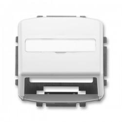 Kryt zásuvky komunikační s popisovým polem, bílá, ABB Tango 5014A-A100 B