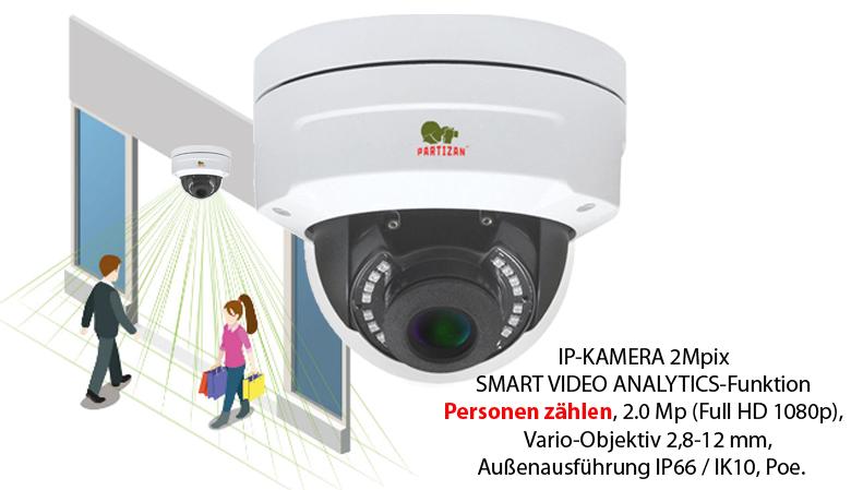 50 / 5000 Výsledky překladu IP-Kamera IPD-VF2MP-IR SPC mit Personenzählfunktion.