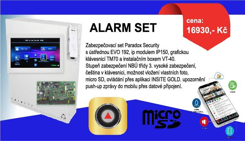 Zabezpečovací ALARM SET Paradox Security s ústřednou EVO 192