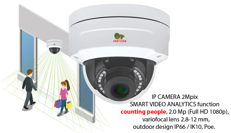 IP camera IPD-VF2MP-IR SPC with human counting function.