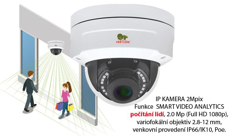 IP kamera IPD-VF2MP-IR SPC s funkcí počítání lidí.